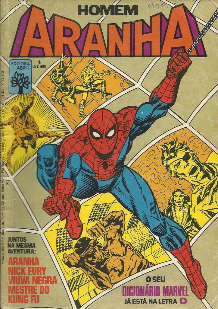 Homem-aranha Nº 4 - Com Página Do Dicionário Marvel