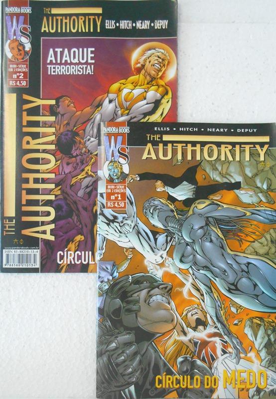The Authority Círculo Do Medo  - Minissérie Completa 2 Edições