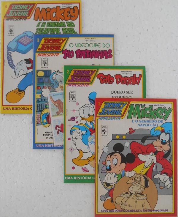 Disney Juvenil - Coleção Completa 4 Edições - Com Brinde