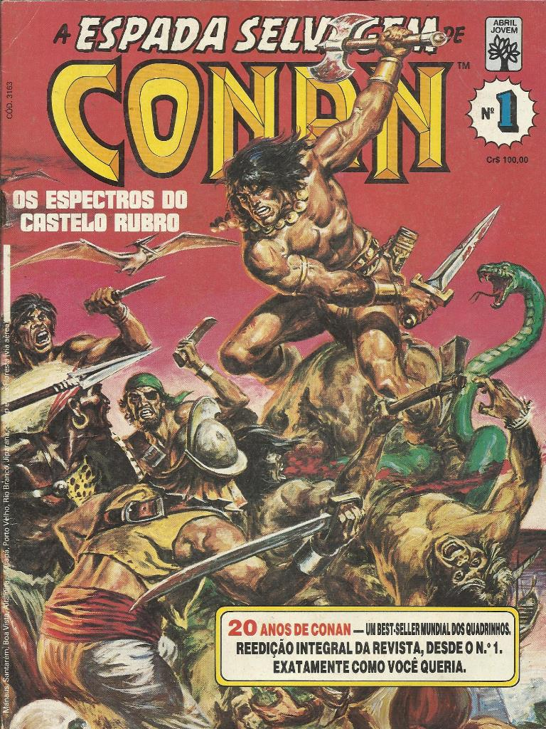 A Espada Selvagem De Conan Nº 1 (reedição)