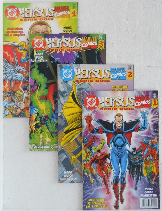 Dc Versus Marvel - Série Dois - Minissérie Completa 4 Edições
