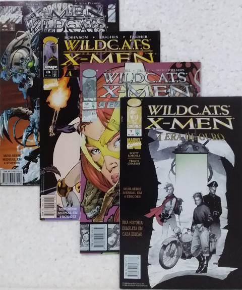 Wildc.a.t.s/ X-Men - Minissérie Completa 4 Edições
