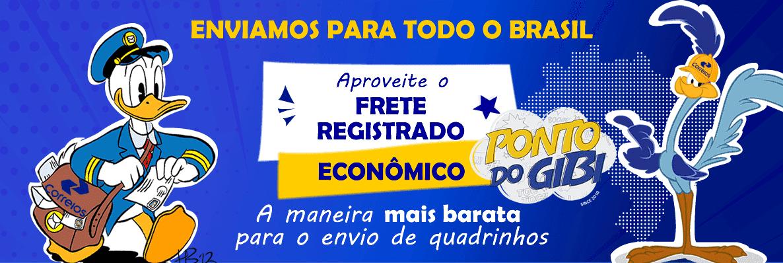 Enviamos para todo o Brasil. Veja nosso frete registrado econômico a maneira mais barata de envio de quadrinhos